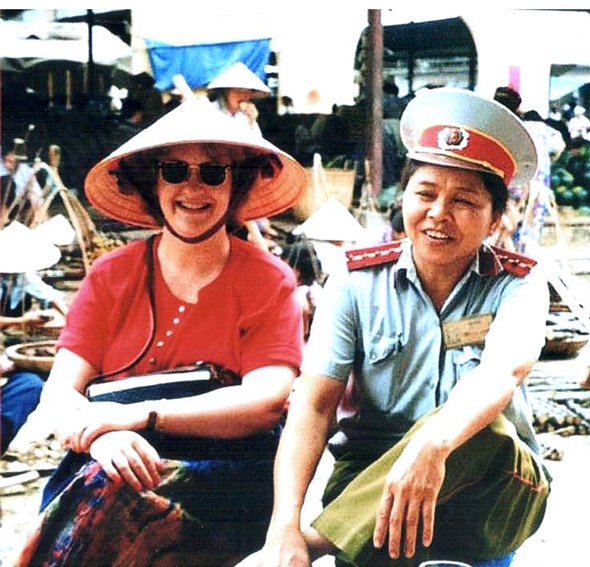 Me in the Hanoi Fruit Market c. 1997
