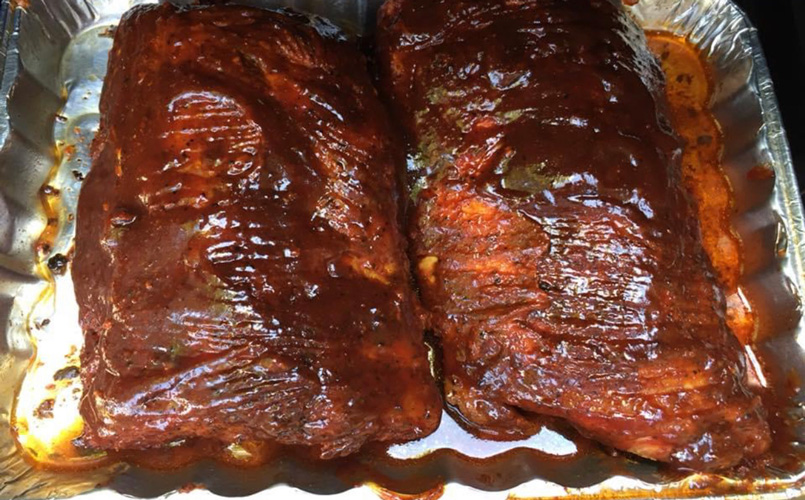 Finished ribs and ready to eat!