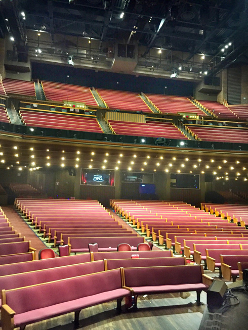 Inside of the Grand Ole Opry