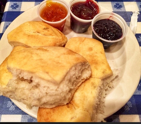 Loveless Cafe's famous homemade biscuits and preserves