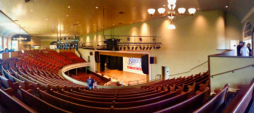 Inside the Ryman Auditoriam